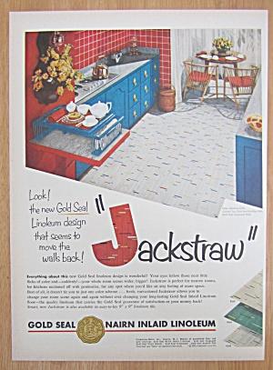 1952 Gold Seal Nairn Inlaid Linoleum with Jackstraw (Image1)
