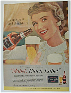 1958 Carling Black Label Beer