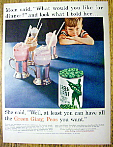 Vintage Ad: 1955 Green Giant Peas (Image1)
