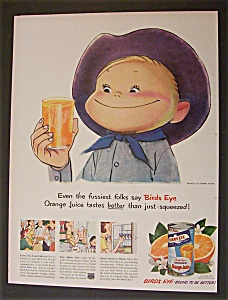 1950 Birds Eye Orange Juice