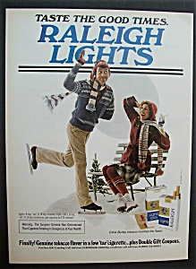 1979 Raleigh Lights Cigarettes