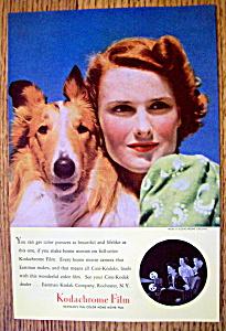 Vintage Ad: 1940 Kodak Kodachrome Film (Image1)