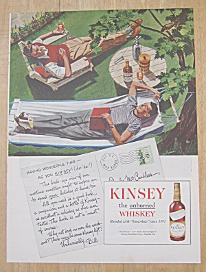 1945 Kinsey Whiskey with Men Relaxing in Backyard (Image1)