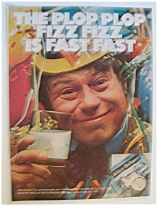 1977 Alka Seltzer with Man Holding A Glass  (Image1)