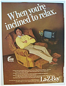 1977 La-Z-Boy Chair with Joe Namath (Image1)