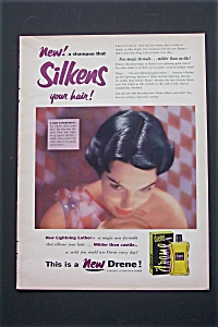 1953 Drene Shampoo with Woman Showing Her Hair (Image1)