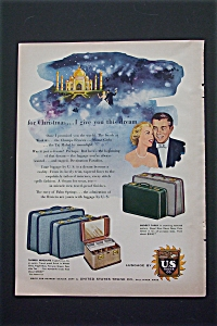 1953 Luggage By U.S. Trunk Co. with Christmas Dream  (Image1)