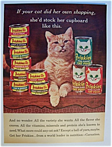 1966 Friskies Cat Food