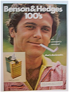 1977 Benson & Hedges Cigarettes