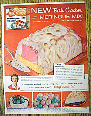 1958 Betty Crocker Meringue Mix With Baked Alaska