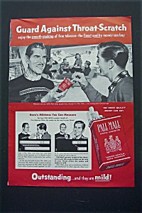 1953 Pall Mall Cigarettes with Men Talking & Smoking  (Image1)