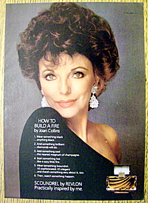 1984 Revlon Scoundrel w/Joan Collins/How To Build Fire (Image1)