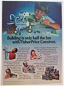 1984 Fisher Price Construx With Children Playing
