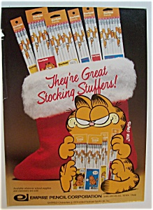 1982 Empire Pencils With Garfield The Cat