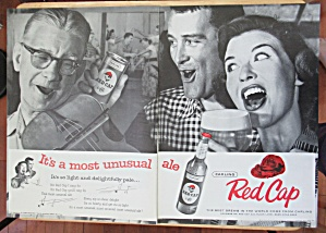1957 Carling Red Cap Ale w/ People Singing & Drinking  (Image1)