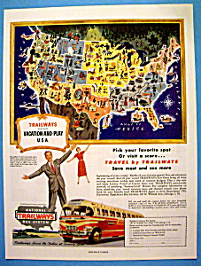 1949 National Trailways Bus System with Vacation & Play (Image1)