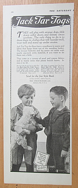 1923 Jack Tar Togs with 2 Boys & Their Puppy  (Image1)