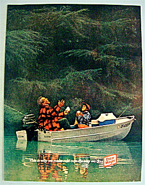 1977 Oscar Mayer W/man & Boy Fishing On Boat W/sandwich