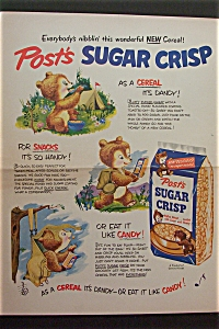 1953 Post Sugar Crisp with 3 Bears Doing Things  (Image1)