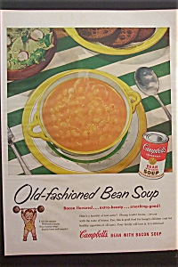 1953 Campbell's Bean with Bacon Soup with Bowl of Soup (Image1)
