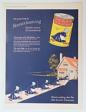 1924 Old Dutch Cleanser With Old Maids Going Into House