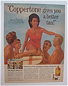1965 Coppertone Suntan Lotion with Annette Funicello (Image1)