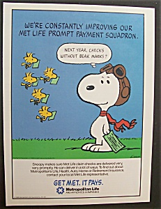 Vintage Ad: 1986 Metropolitan Insurance With Snoopy