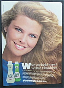 1986 Prell Shampoo With Christie Brinkley (Cover Girl)