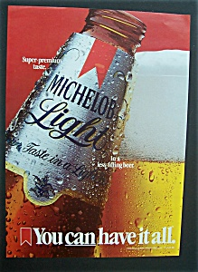 1985 Michelob Light Beer