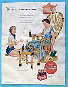 1954 Coca Cola (Coke) with Woman Talking to a Girl (Image1)