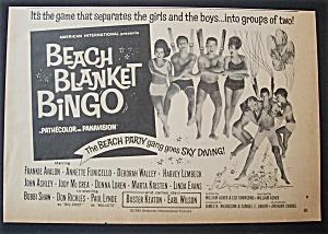 1965  Movie  Ad  For  Beach  Blanket  Bingo (Image1)
