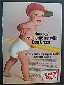 1982 Kleenex Huggies Diapers