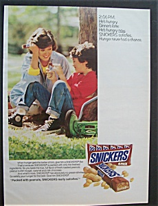 Vintage Ad: 1987 Snickers Candy Bar