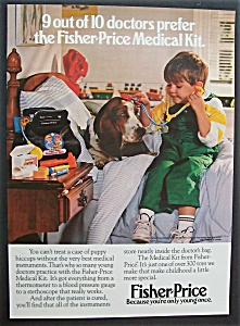 1987 Fisher-price Medical Kit With A Boy & His Dog