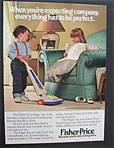 1987 Fisher-price Magic Vac With Boy Cleaning