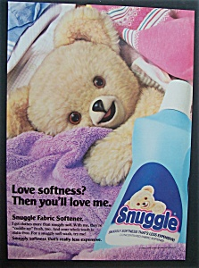 1987 Snuggle Fabric Softener With Snuggle