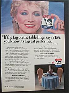 Vintage Ad: 1984 Visa Fabric with Barbara Mandrell (Image1)
