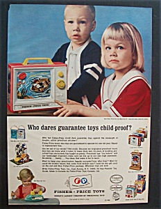 1966 Fisher-Price Toys with 2 Children & Toys (Image1)