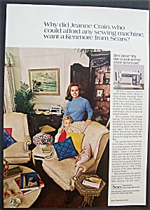1971 Sears Sewing Machine W/jeanne Crain Standing