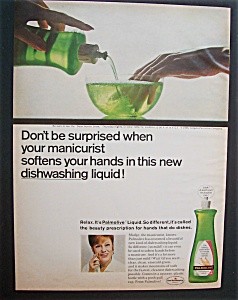 1966 Palmolive Dishwashing Liquid