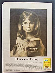1966 Friskies Dog Mix with Woman & Her Dog (Image1)