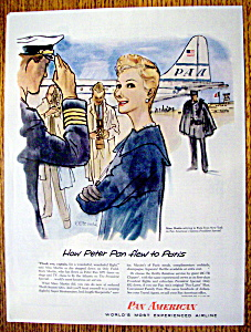 Vintage Ad: 1956 Pan American Airline with Mary Martin (Image1)