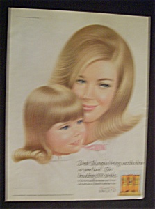 1968 Breck Shampoo with Mother & Daughter (Image1)