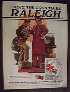 1977 Raleigh Cigarettes W/bell Hop & Newspaper Man