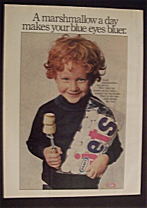1977 Kraft Jets Marshmallows W/child Holding Bags