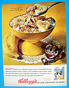 Vintage Ad: 1963 Kellogg's Sugar Frosted Flakes (Image1)