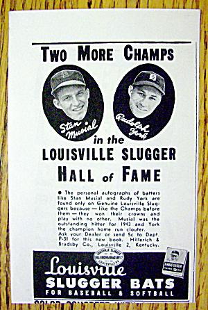 1944 Louisville Slugger Bats w/ Stan Musial & Rudy York (Image1)