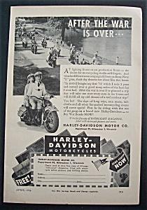 1944 Harley-Davidson Motorcycles w/Man & Woman (Image1)