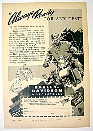1944 Harley-Davidson Motorcycles with Man & Motorcycle (Image1)