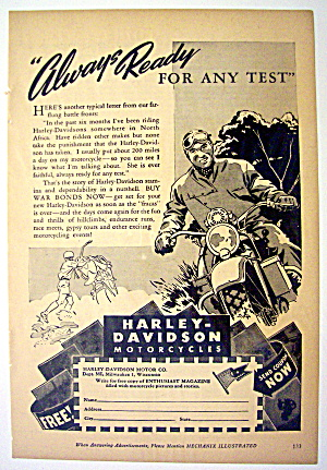 1944 Harley-Davidson Motorcycles with Man on Motorcycle (Image1)